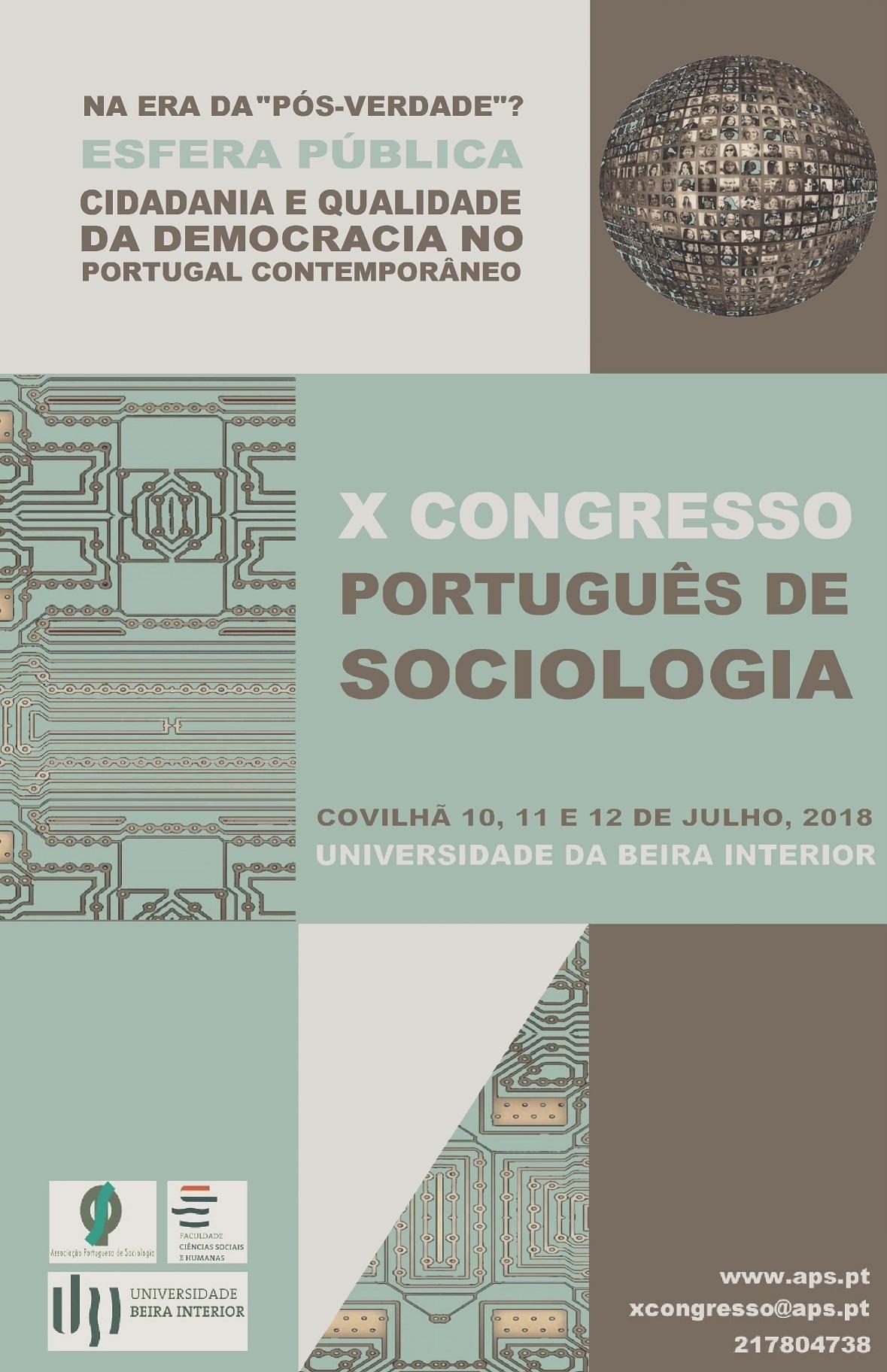 X Congresso Português de Sociologia
